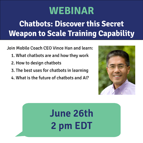 Vince Han will present a webinar on chabots