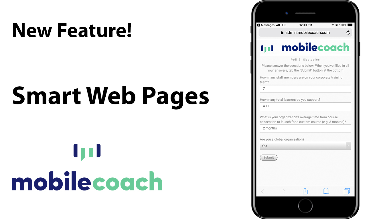 Mobile Coach Smart Web Pages!