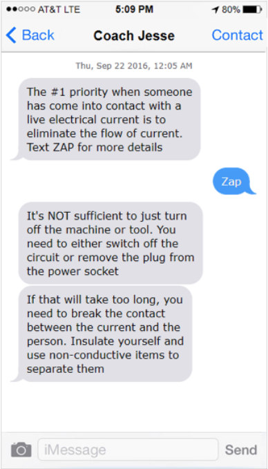 Coach Jesse, a safety training chatbot