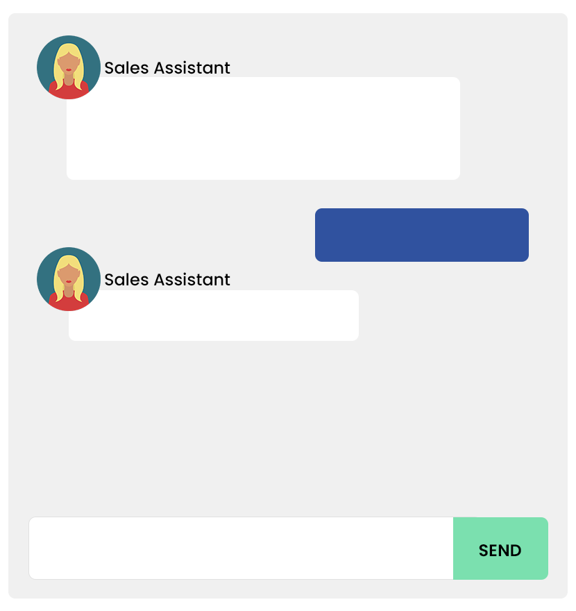 Sales assistant chatbot image