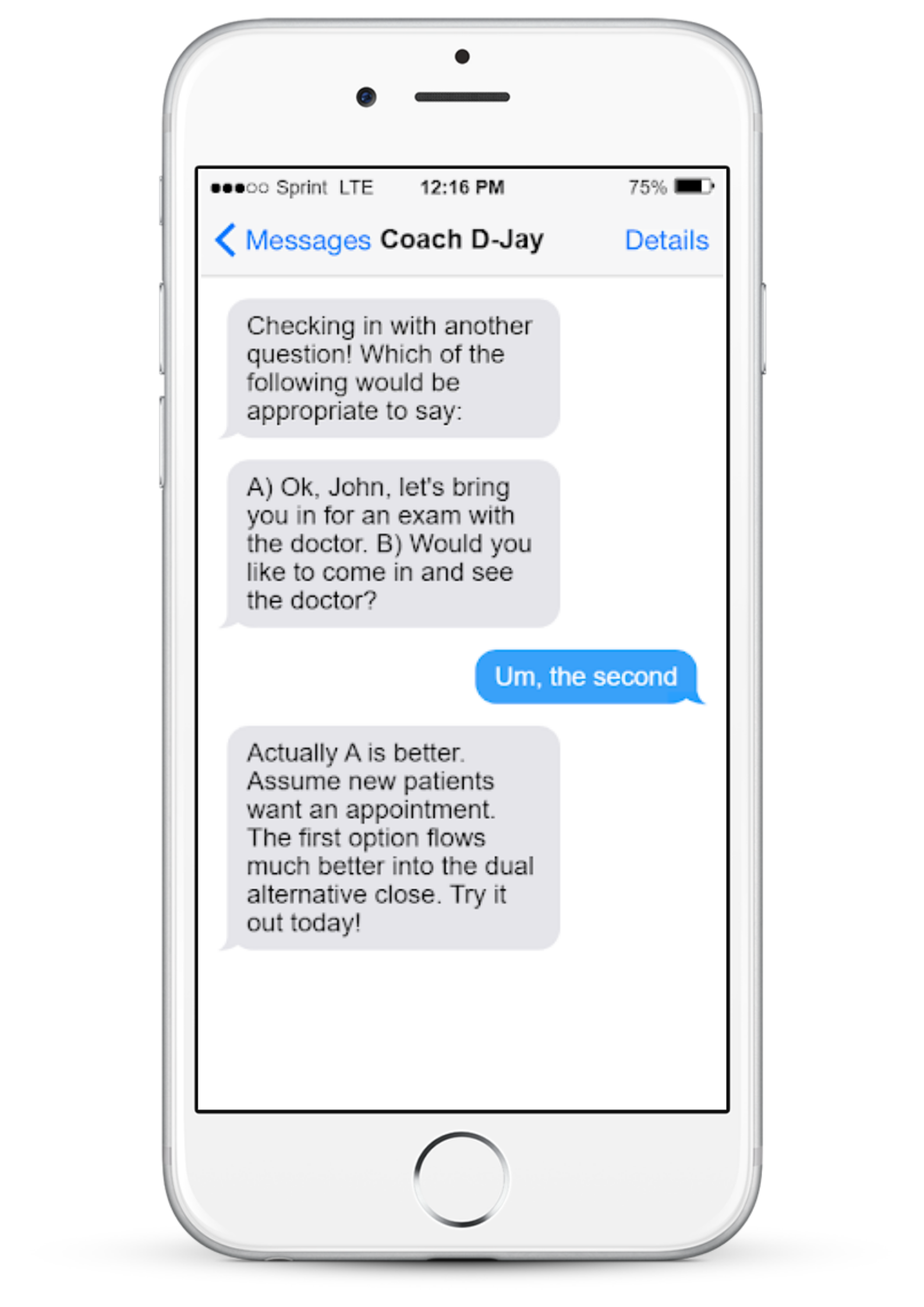 example of chatbot use case - coaching